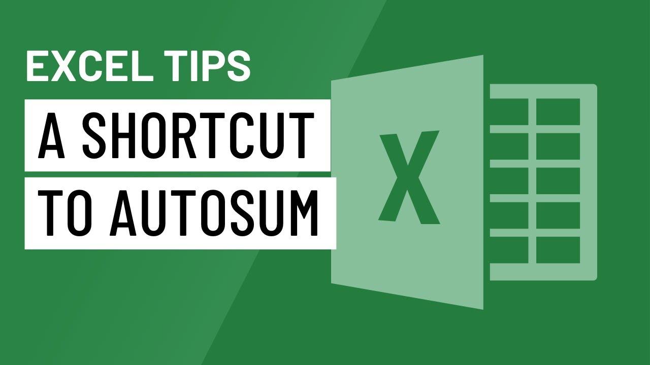 Excel Quick Tip: A Shortcut to AutoSum