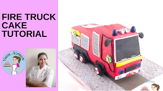 How to make a Fire Truck Cake - Fire Truck Cake Tutorial
