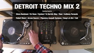 Detroit Techno Mix 2 | With Tracklist | Vinyl Mix