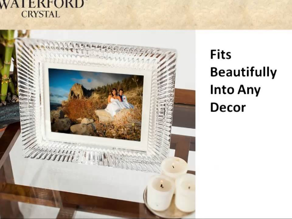 MD8001 Waterford Crystal Digital Photo Frame - YouTube