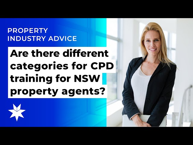 Are there different categories for CPD training for NSW property agents?