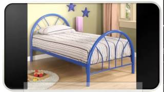 Blue Modern Twin Bed