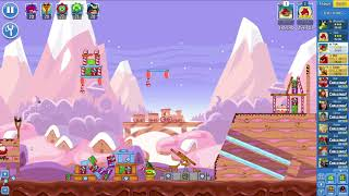 Angry Birds Friends on Facebook SantaCoal CandyClaus Level 3 No Power Ups 3 Stars Jan 1 2018