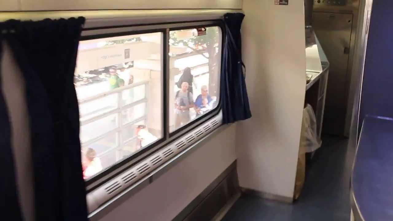 Interior Walk Through Of The Amtrak Train The Texas Eagle