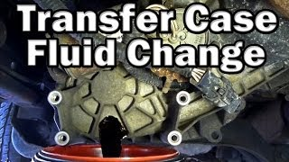 How to change Transfer Case Fluid (Easy)