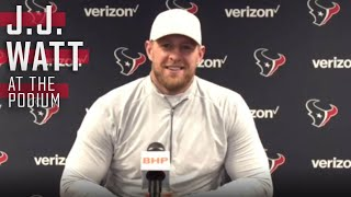 J.J. Watt's Outlines his Typical Thanksgiving Meal Game Plan   Press Conference