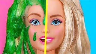 9 DIY Aliviadores De Estresse Em Miniatura De Slime / Truques Malucos Para A Sua Barbie