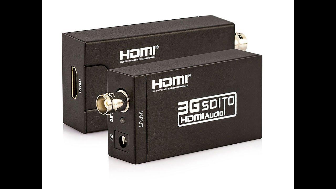 Conversor SDI para HDMI - jccabos - YouTube