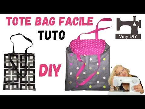 coudre un tote bag tuto couture facile diy youtube. Black Bedroom Furniture Sets. Home Design Ideas