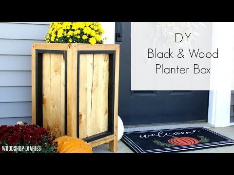 diy-black-and-wood-modern-style-planter-box