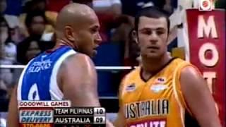 australia vs pba philippines 2009 exhibition game basketball q1