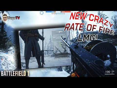 INSANE NEW LMG - PARABELLUM MG14/17 - BF1 DLC TSAR GAMEPLAY