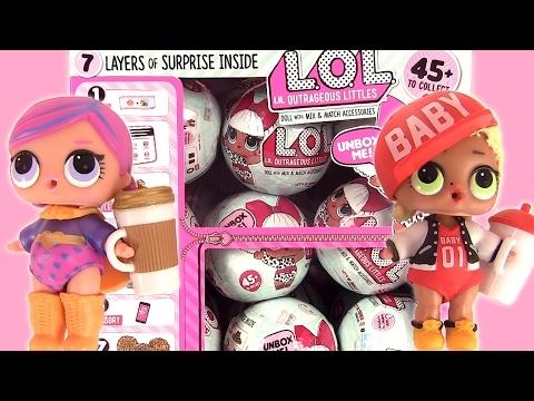 lol lil outrageous littles surprise dolls boules surprises de poup es lol youtube. Black Bedroom Furniture Sets. Home Design Ideas