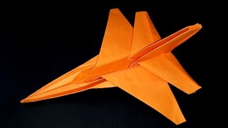 How to make a paper fighter aircraft F-16 Origami Tutorial-Best paper airplane