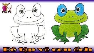 Bé tập vẽ con ếch theo mẫu | drawing frogs