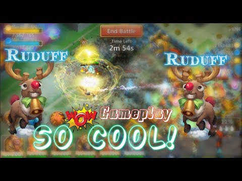 New Pet Ruduff Gameplay Insane Animation! Castle Clash