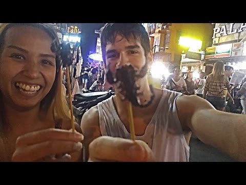 Eating weird asian food in Vietnam.  You might be shocked or vomit!