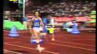 Прыжок в длину женщины Хайке Дрекслер  7 39 м  +0 3, Zurich 21 8 1985
