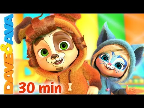 🕺 Dancing Songs | One Little Finger Tap Tap Tap And More Nursery Rhymes By Dave And Ava 🕺