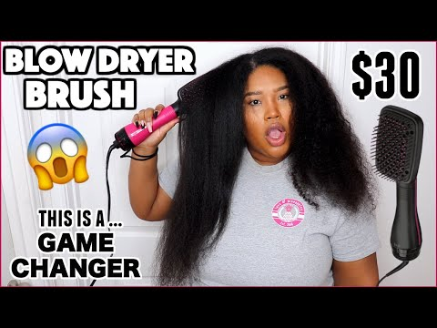 I Tried A BLOW DRYER BRUSH And GIRL...OMG😱 *NOT SPONSORED*