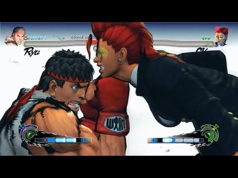 Super Street Fighter 4 IV AE PC Ryu Playthrough + Secret Evil Ryu Boss fight 1/2