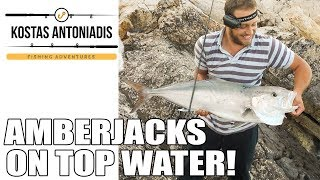 Spinning fishing for Amberjacks on top waters!..... Fishing in Greece by KA