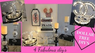 DOLLAR TREE DIY HOME DECOR IDEAS | CHANEL DUPE | 4 FASHION DUPE DIY'S