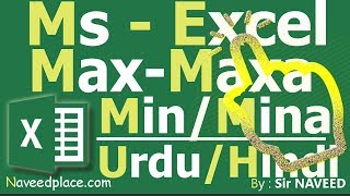 Learn MsExcel Max , Maxa MIn Mina- Function / Formula Tutorial In U...