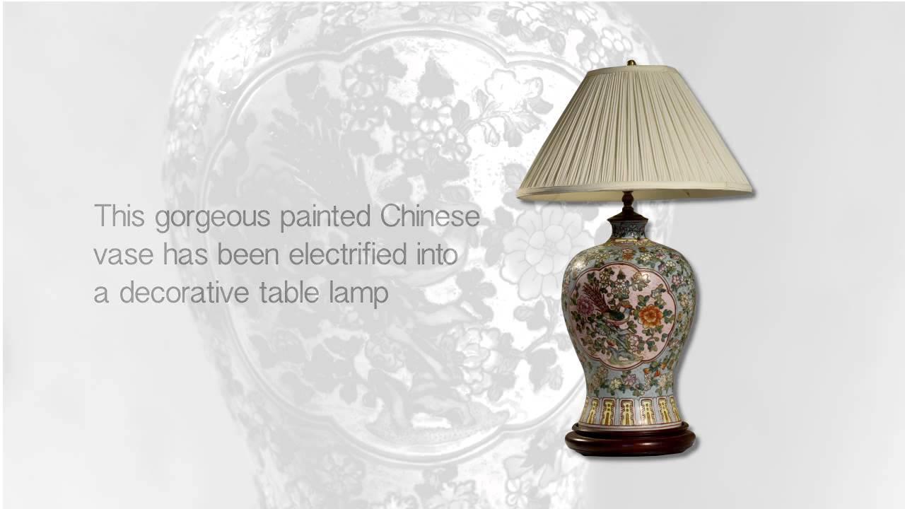 Chinese ceramic vase lamp youtube chinese ceramic vase lamp reviewsmspy