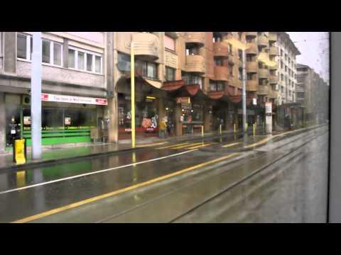 Voyage sur sur la ligne 18 des tramway de Genève de Cornavin à Blandonet