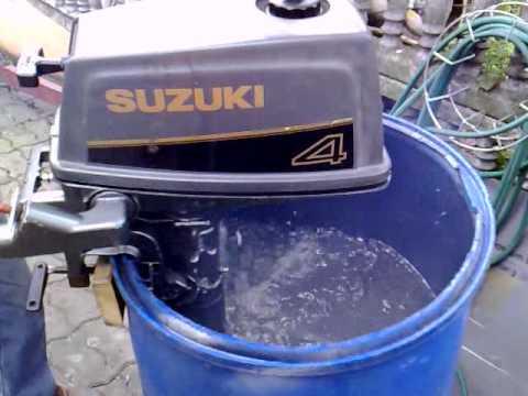 Suzuki 4 hp outboard motor 1993r. 2 stroke (dwusuw) - YouTube