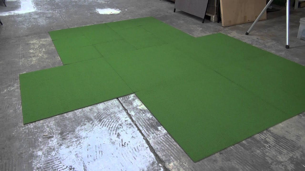 Grass green looped carpet tiles carpet tiles 1 youtube for Grass carpet tiles