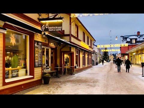 Leksand, Dalarna. Wintery Virtual Walk In Idyllic Swedish Small Town.