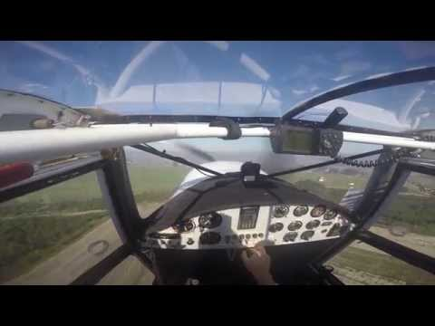 Flying circuits in a Bushbaby tailwheel aircraft POV