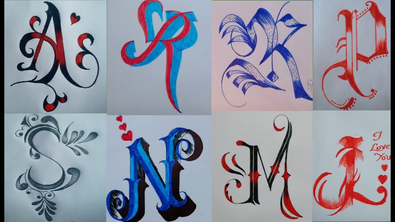 Fancy Letters  Letter writing  How To Design Your Own Swirled Letters  Tattoodesigns mehndidesigns
