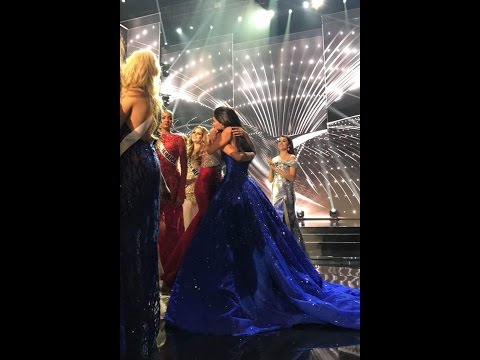 Pia Alonzo Wurtzbach Hugs Maxine Medina After The Announcement of New Miss Universe