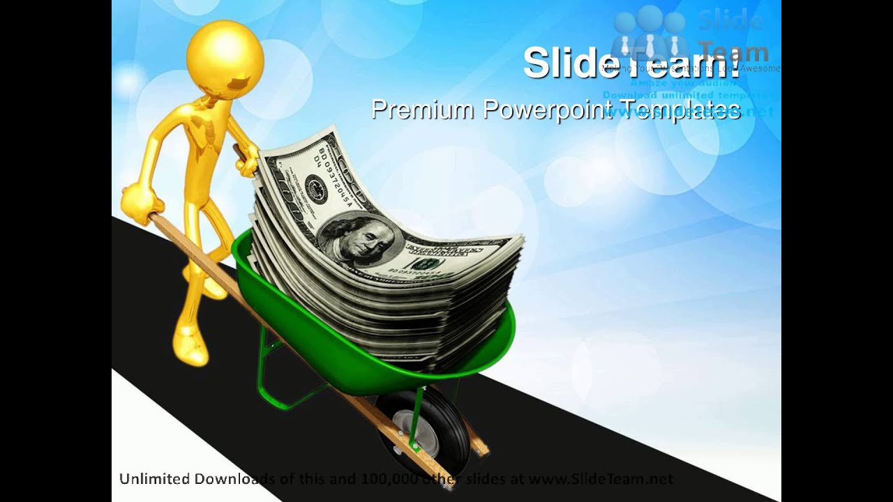 Dollar Wheelbarrow Money Powerpoint Templates Themes And Backgrounds