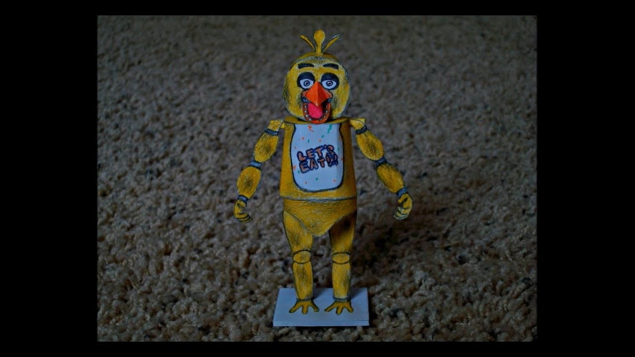 Papercraft Paper Model of the Chica Animatronic from