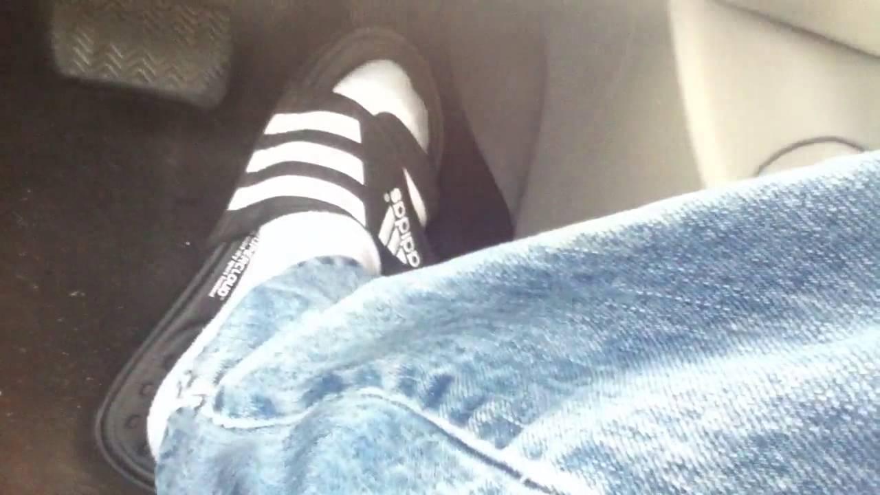 b5e2ae05d Driving in Adidas Sandals w o socks