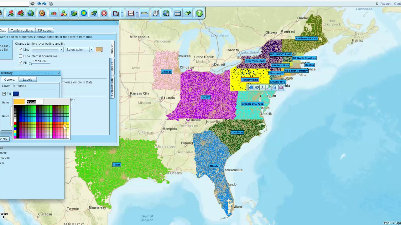 Excel Zip Code Map.Import An Excel File Of Zip Codes To Make A Territory Map Business