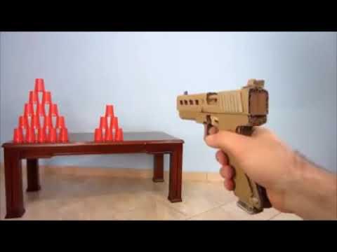 Como hacer una increíble arma de cartón que dispara