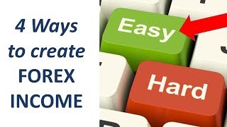 Generating high success Forex trading income using 4 simple & Easy approaches. Good for Beginners