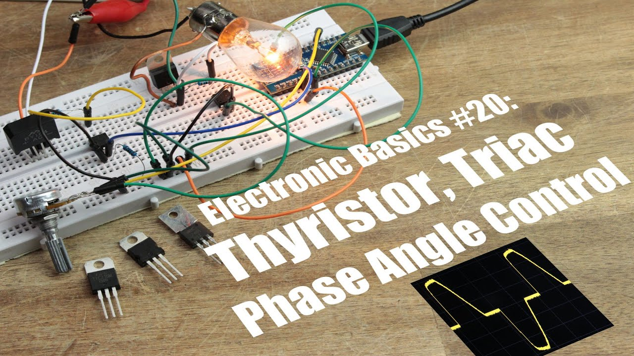Electronic Basics 20 Thyristor Triac Phase Angle Control Youtube Basic Circuit That Uses An Sbs Diagram