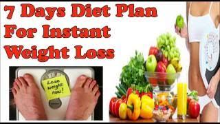 एक हफ्ते मे 6-8 किलो वजन घटाएगा ये डाइट प्लान  | 7 days diet plan for instant weight loss guaranteed