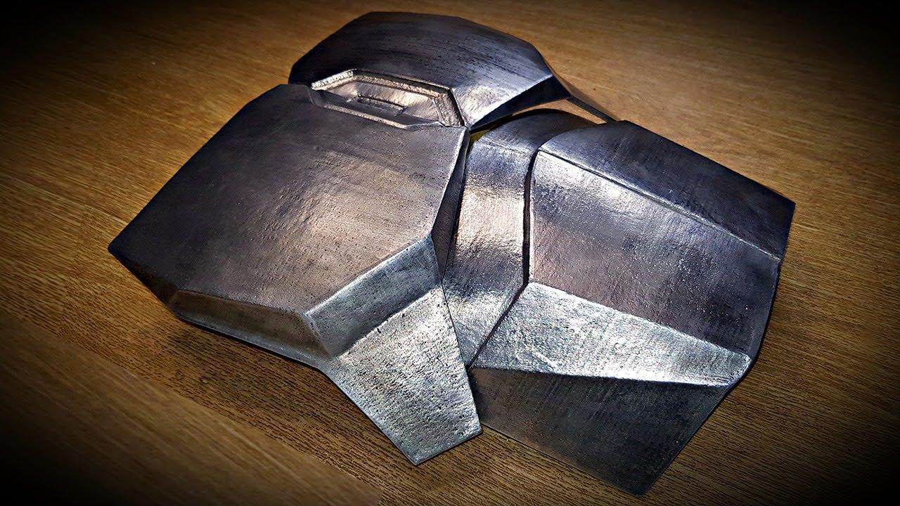 Литье брони Мандалорца из алюминия по сериалу Star Wars