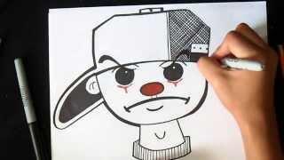 cómo dibujar payaso con gorra Graffiti | Wizard art - by Wörld