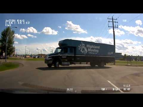 Edmonton Highland Moving and Storage Truck Drives Like An Idiot