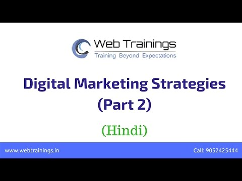 Digital Marketing Tutorial for Beginners in Hindi - Part 2 (Digital Marketing Strategies)