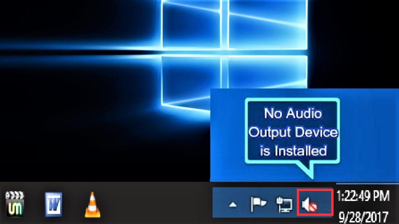 How to Fix No Audio Output Device Is Installed Error in Window 10