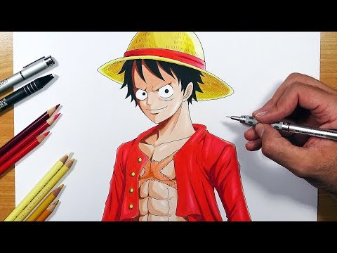 How To Draw LUFFY Post Timeskip! - Step By Step Tutorial!